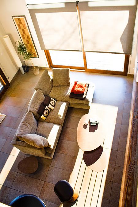 Reforma de Vivienda en Berriz vista de sala de estar